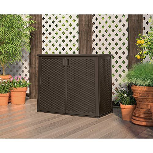 97-Gallon Outdoor Patio Cabinet Storage > Multi-wall construction for strength and stability Padlock-ready doors (padlock not included) Includes a metal-reinforced adjustable shelf Check more at http://farmgardensuperstore.com/product/97-gallon-outdoor-patio-cabinet-storage/