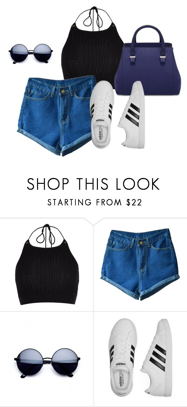 """Día a dia"" by zairajimenezk ❤ liked on Polyvore featuring River Island and adidas"