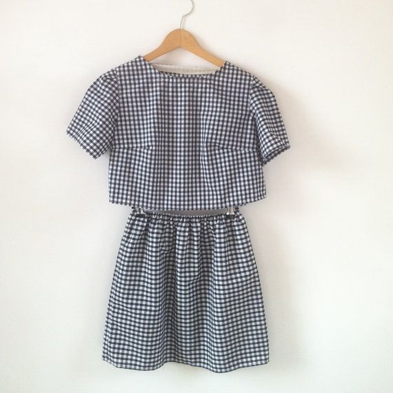 Hey, I found this really awesome Etsy listing at https://www.etsy.com/listing/192189178/organic-cotton-gingham-two-piece-set-co
