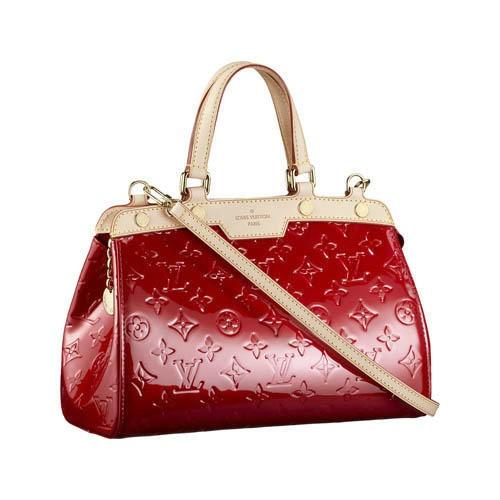 Louis Vuitton Monogram Vernis Bag Red M91623
