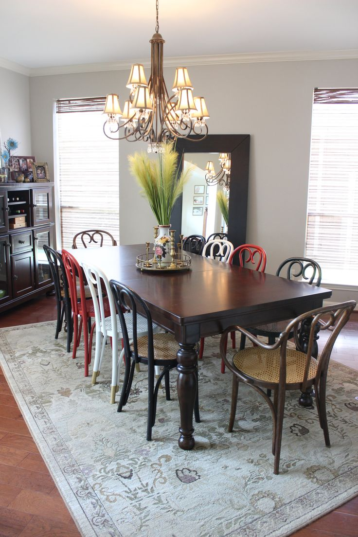 Bentwood chairs domino - Bentwood Chairs In Our Dining Room With Red White Black And Natural