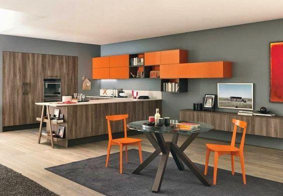 15 best Wände images on Pinterest Ideas, Colors and Wand - Wohnzimmer Grau Orange