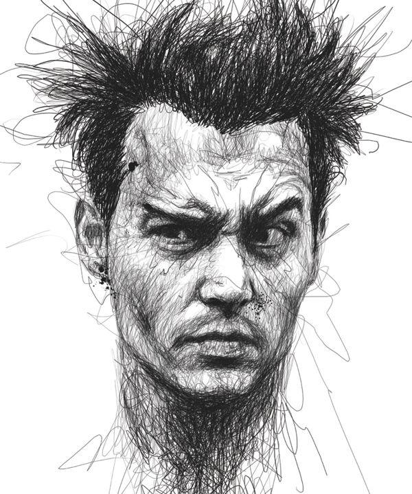 As ilustrações rabiscadas de Vince Low