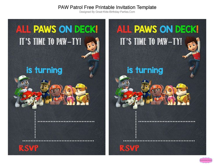 Best 25 Paw Patrol Birthday Invitations Ideas On