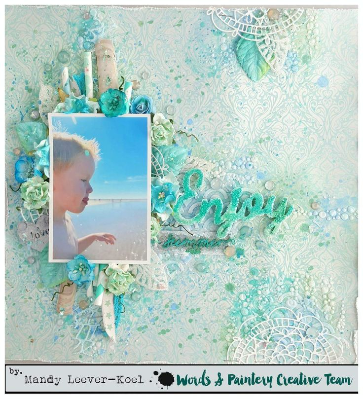 Hi all,     Time for a new challenge over at Words & Paintery!   The beautiful blues and mint combospoke to me immediately.   You...