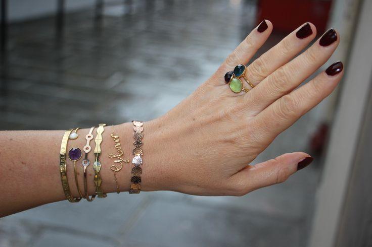 Inspirations de bagues et bracelets chez Box Bazar On reste #coquettes malgré la #grisaille !