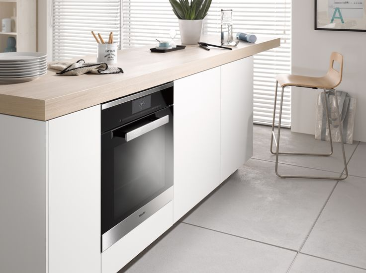 The Miele Generation 6000 DGC 6860 XXL steam combination oven is an ideal multi-tasking oven for a family kitchen - offering the health and convenience benefits of steam as well as functioning as a normal oven #kitchendesign