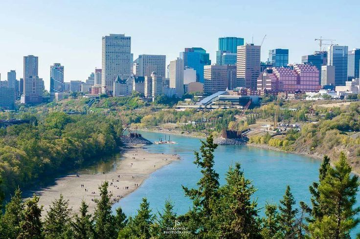 View of the accidental beach in Edmonton! ❤