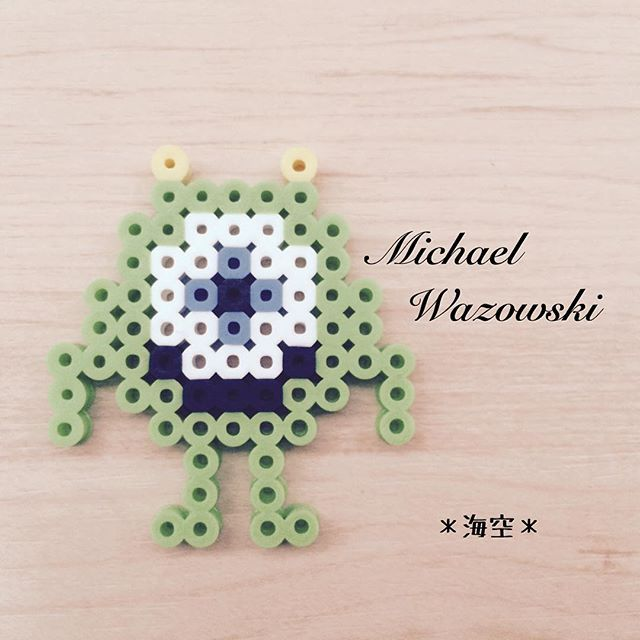 Mike - Monsters, Inc. perler beads by kaisora0_0
