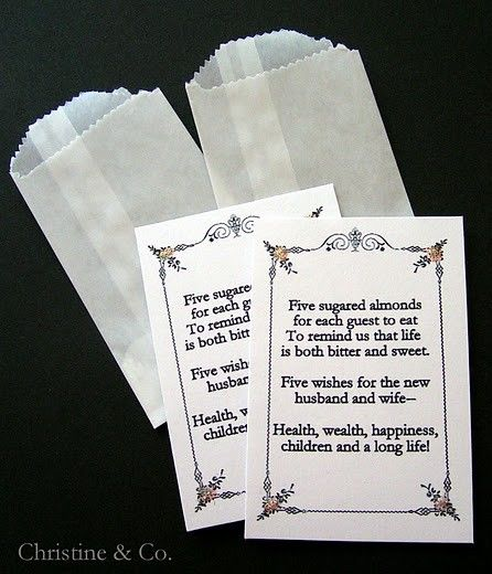 Italian Wedding Tradition for sure, I would love to give these out for favors to our guests!!! <3 <3 <3