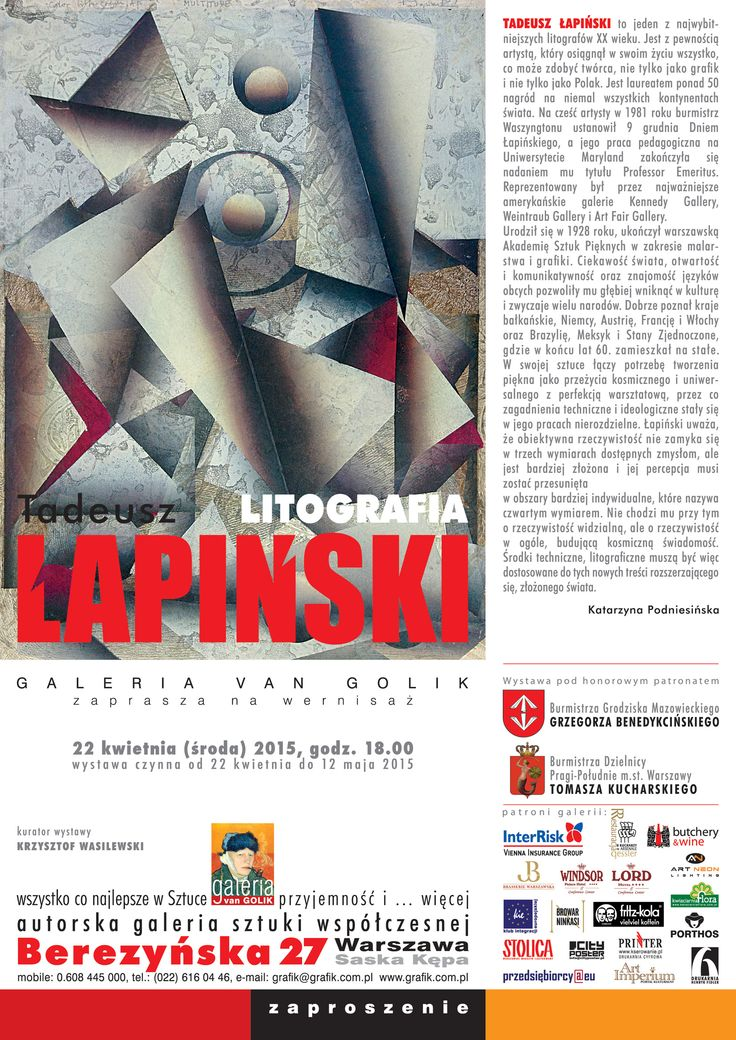 Tadeusz Łapiński - litografie - Galeria Van Golik