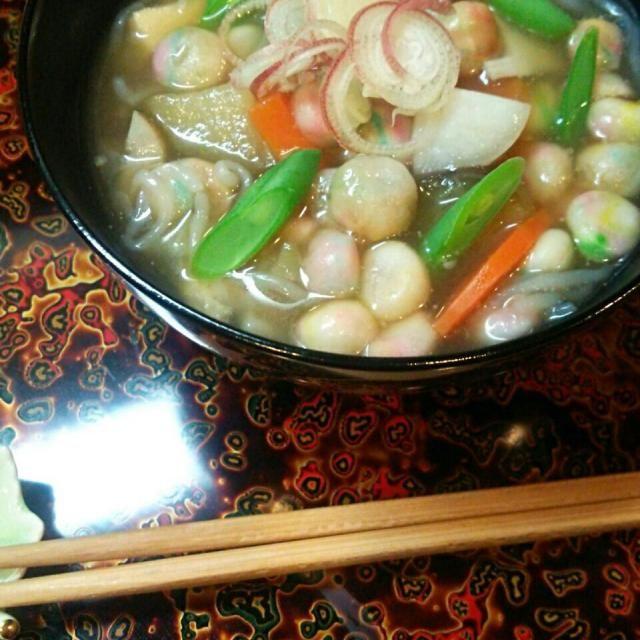 おくずかけ。 お彼岸とかお盆によく食べられる宮城県の郷土料理。 最近、皆さんが作ってたの見たら❤ じわりじわりと食べたくなりました。…