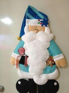 Aprende Paso A Paso Cómo Crear Unos Bonitos Papá Noel Tan Sólo Con Tela Y Fieltro ¡Son Preciosos! | Tutoriales Y Moldes