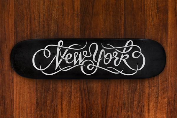New York skateboard by Simon Ålander, via Behance