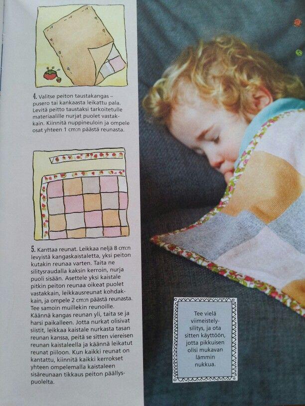 Vauvan tilkkupeitto huopa vanhat neulepuserot vauvalahja kirjaile nimi syntymäaika - neliö 12x12 cm 6x4 palaa