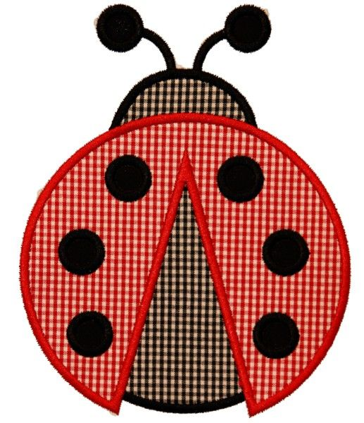 For the quilt - Lady Bug Applique Design