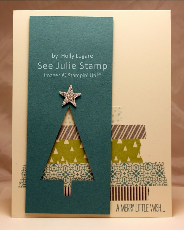 See Julie Stamp - Julie Wadlinger, Stampin' Up! Demonstrator : Swap: Cards in the Mail - Festival of Trees: