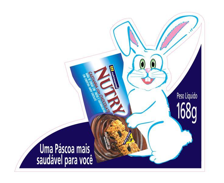 Adesivo promocional Páscoa, Nuttry
