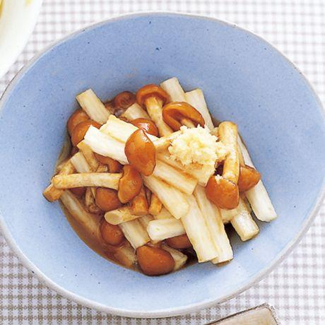 長いもとなめこのおひたし | 植松良枝さんのおつまみの料理レシピ | プロの簡単料理レシピはレタスクラブネット