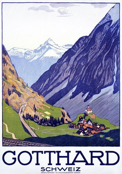 Emil Cardinaux (1877-1936): Gotthard-Schweiz, 1914
