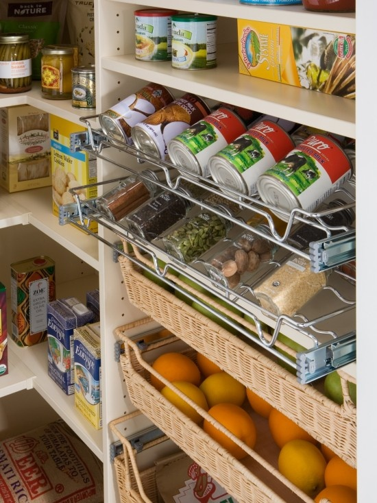 Slide Out Pantry Shelves Organization