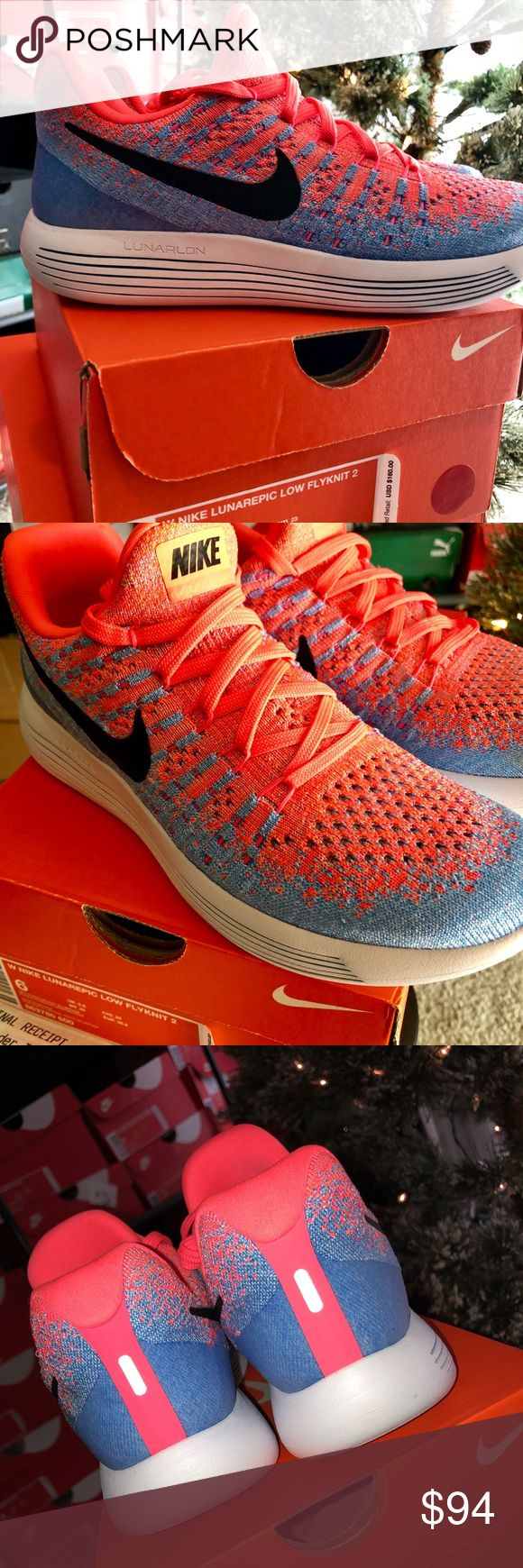 🚺👟 Nike Lunarepic Low Flyknit 2: Sz6-8.5, NWB🎁 Brand new in box with receipt, Ladies Nike Lunarepic Low Flyknit 2: Hot Punch/Aluminuum (Pink & Blue), Sizes 6, 7.5, 8, & 8.5, all NWB & Deadstock. Retail for $140, awesome Xmas gift for your girl, wife or daughter! Nike Shoes Athletic Shoes