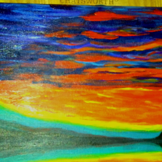 Em's new painting lit up by EmmaJlock
