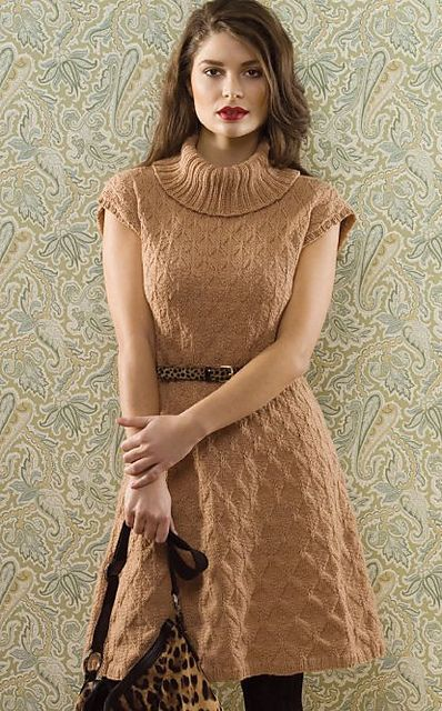 Tile Stitch Dress by Mari Tobita - knitted, textured dress knit with Zealana Willow DK yarn