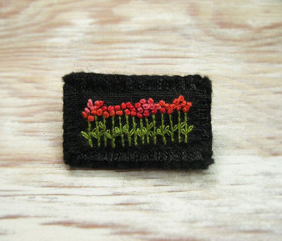 Festive Garden Hand Embroidered Brooch by Sidereal on Etsy, $25.00