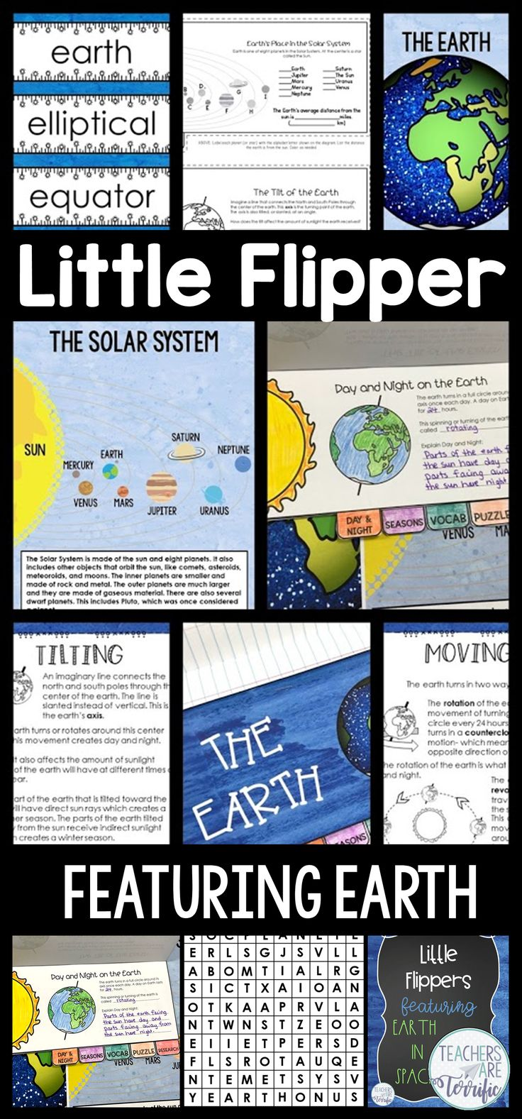 Create a mini booklet about Earth in Space! Includes templates, cover, posters, and reading selections!