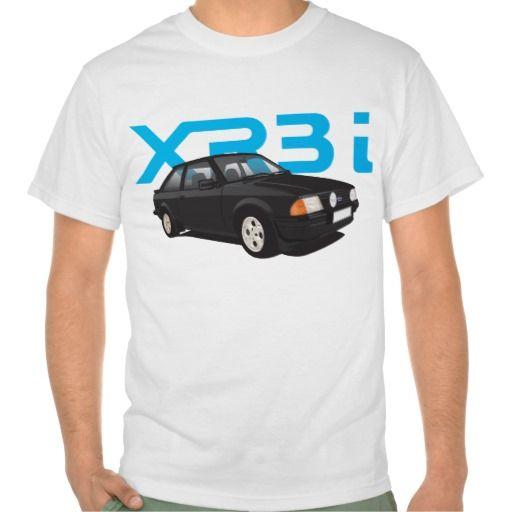 Ford Escort MK3 XR3i black  #ford #escort #fordescort #mk3 #xr3 #tshirt #thirts #automobile #car #uk #xr3i