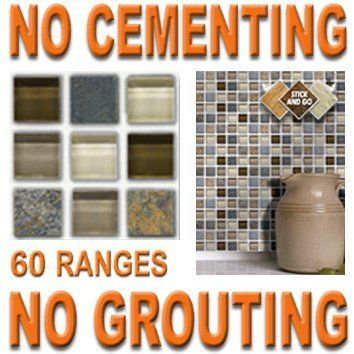 Gl Stone Mosaic Box Of 18 Tiles 4x4 Solid L Stick On Ly