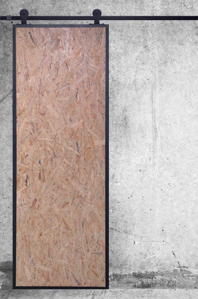 Genialny drzwi przesuwne industrialne, drzwi z płyty osb | sypialnia in WQ95