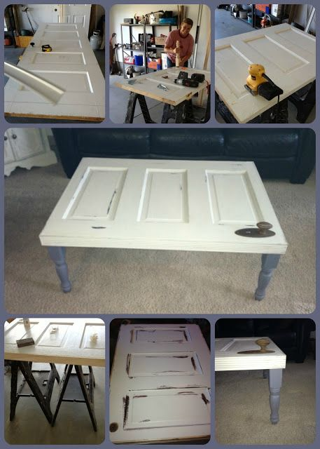 Old Door Made Into A Coffee Table For The Home Pinterest