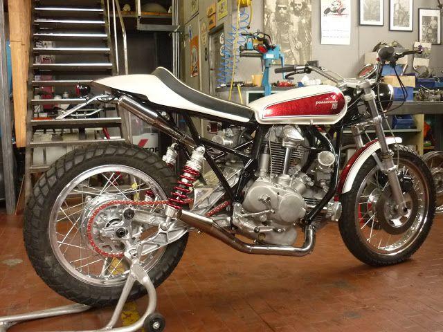 Ducati 750 Street Tracker - Roberto Totti #motorcycles #streettracker #motos | caferacerpasion.com