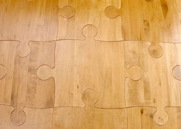 Jigsaw puzzle hardwood floors
