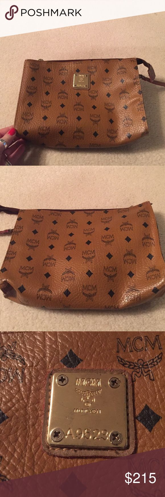 Vintage MCM Bag Vintage bag. Can be used as a cosmetic pouch, clutch or crossbody. I have the long strap but one of the clips broke off. It can be replaced, so I will send it along. Make an offer :) MCM Bags