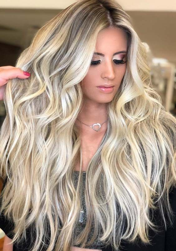 Stunning Voluminous Long Thick Blonde Hairstyles for 2018 ...