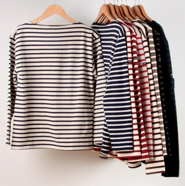 Saint James striped meridien shirts - these would do me: one a day for a week.
