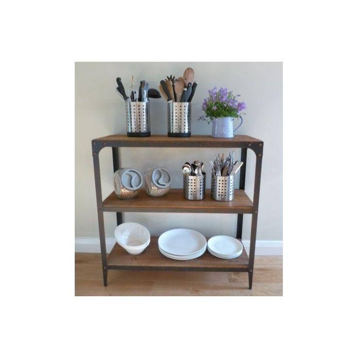 3 Tier Shelf Unit   Aged Rust   Steel Magnolias Furniture LTD