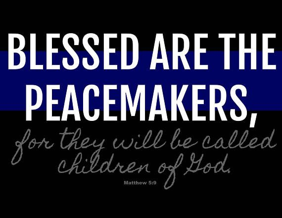 Show #love and #support for the #policeofficers in your life with this #Instant #Download #Blessed Are The #Peacemakers, for they will be called #children of #God #Matthew 5:9 18x12 #JPG #PDF #digital #digitalart  #print #blueline  #police  #policeofficer  #jesus #farmhouse #famhousedecor #etsyfinds #homedecor #scriptureart #biblescripture #serve #protect #grateful #christian #thankful  Available at ElevationBoutique's Etsy Shop. Link in bio.