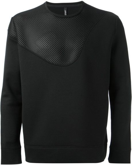NEIL BARRETT Mesh Panel Sweatshirt