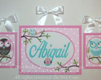 Princess Custom canvas name sign 3 pc wall art by Sweetartandparty