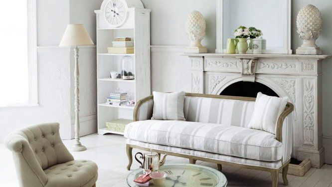 canap s fauteuil recouvrir tissu toile de matelas campagne chic salon home deco. Black Bedroom Furniture Sets. Home Design Ideas
