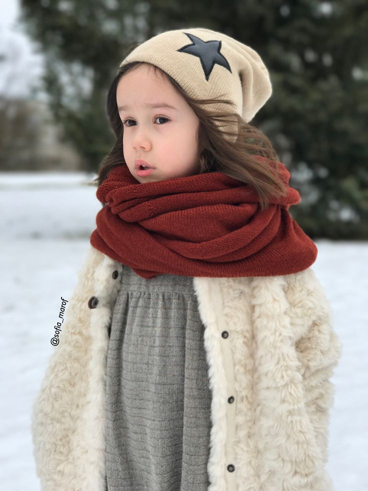 Kids style winter face photo