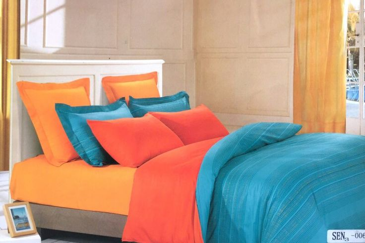 Blue with self stripes 100% Cotton bedsheet