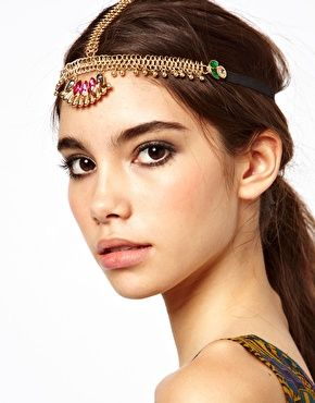 @Kara Shetrone you need this for vegas!! ASOS Festival Jewel Hair Crown