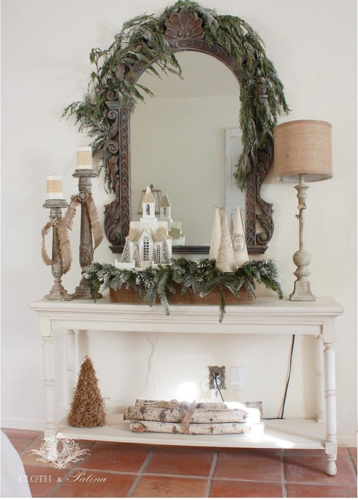 Simple Charming Rustic French Style Christmas Decor