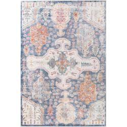 benuta Naturals Viskoseteppich Yuma Multicolor/Blau 120x170 cm - Vintage Teppich im Used-Lookbenuta.