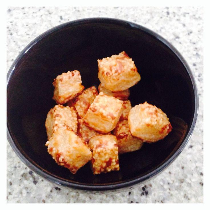 quadradinho de tapioca - aperitivo fit
